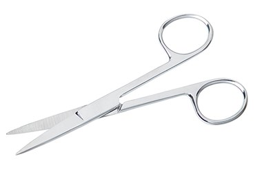 Surgical Dissection Scissors with Sharp Points and Straight Blades