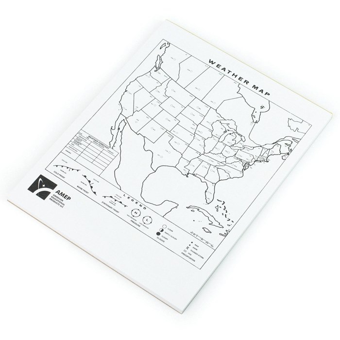 North American Weather Student Maps, Pad of 50