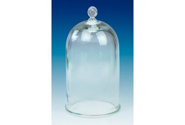Glass Bell Jar Vacuum Chamber with Molded Glass Knob 13 L