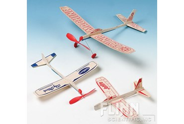 Flying Machine Rubber Band Powered Balsa Plane