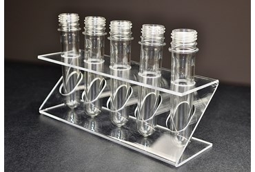 Mini Soda Bottle Tubes and Rack