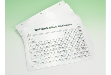 Laminated Periodic Table Notebook Size