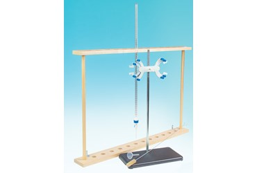 Titration Equipment Drawer Set with Burets, Funnels, Brushes, Support Stands, and Clamps
