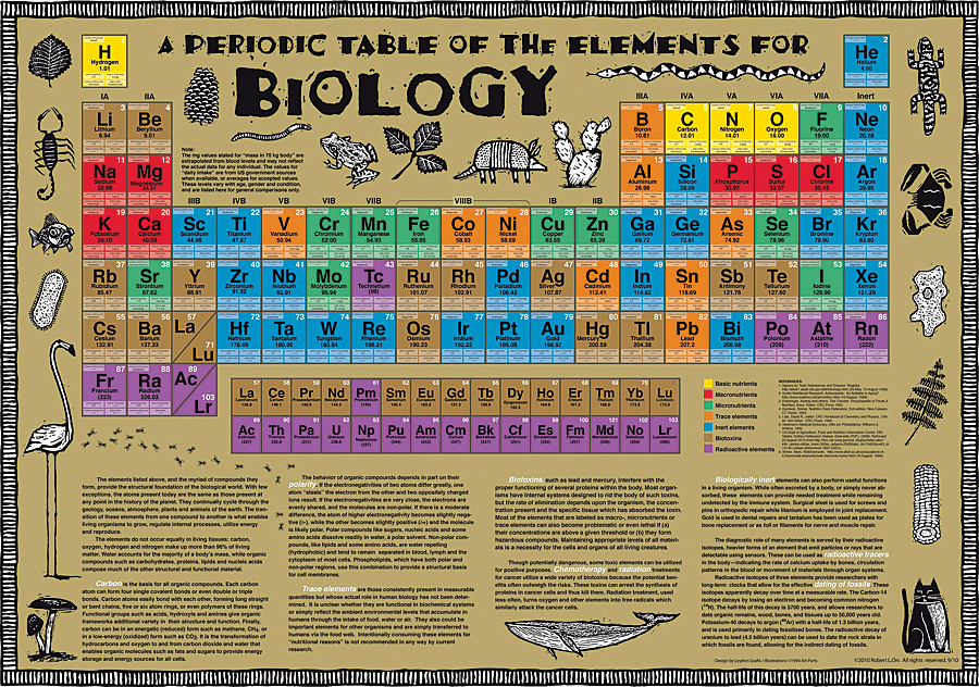 Biology periodic table poster biology periodic table chart urtaz Images