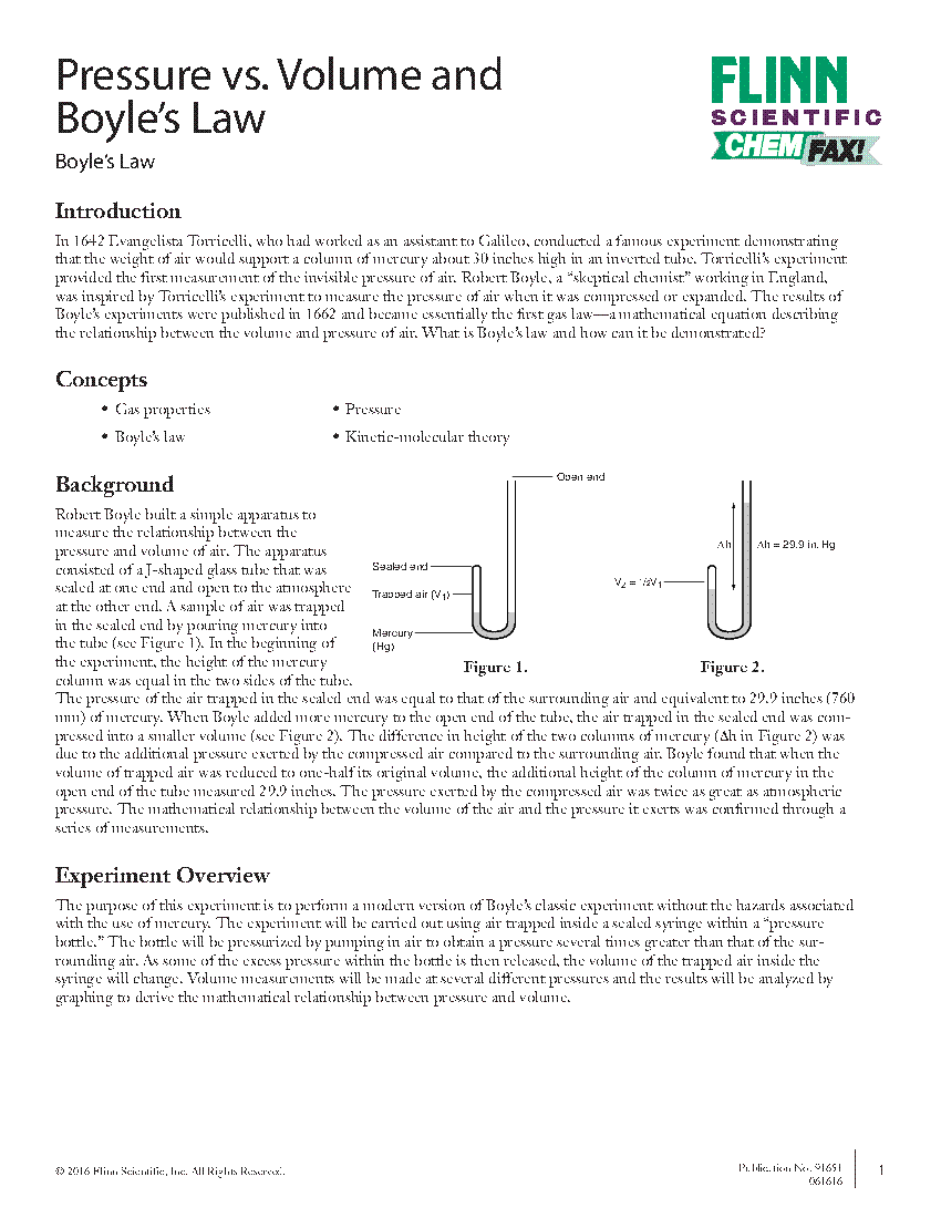 Volume and Boyle's Law